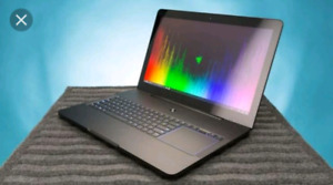 "Razer pro laptop 17.3"" with bag and mouse"