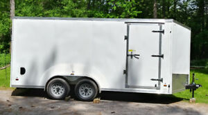 2018 7 x 16 V-nose enclosed trailer LIKE NEW
