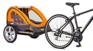 NEW Instep Quick N EZ Double Bicycle Trailer & Stroller - Bike
