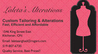 Custom Tailoring & Alterations