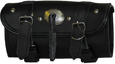 Studded Tool Bag - Vance Leather 2 Strap Studded Tool Bag with Concho