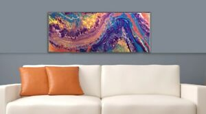 """Original Abstract Painting - """"AMETHYST WAVE""""  #49 for sale  Calgary"""