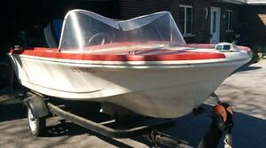 16 feet Power Boat, with working engine and trailer