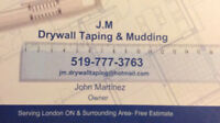 JM. Drywall taping &mudding