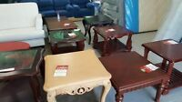 COFFEE TABLES AND END TABLES $49
