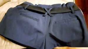 High waisted navy shorts size small