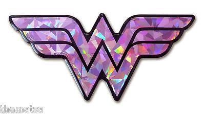 WONDER WOMAN PINK 3D AUTO CAR EMBLEM DECAL STICKER MADE IN USA - Pink Wonder Woman