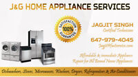 Appliance Repair - Fridge, Washer, Dryer,Stove, Dishwasher