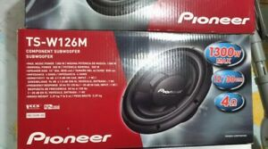 "BRAND NEW IN BOX 12"" PIONEER TS-W126M SUBS SUBWOOFERS"