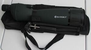 A new and unused Barska 25-75-75 Spotting Scope with tripod.