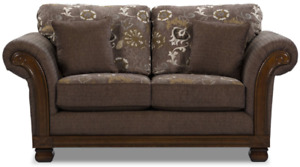 Gorgeous plush fabric COUCH SET of 2 (Couch & Armchair)