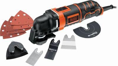 Black&Decker MT300KA 240v Oscilante Herramienta Multi + 12 Madera Metal Hojas