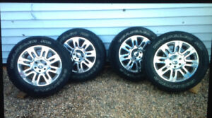 """20"""" Platinum  Rims with Tires for Sale"""