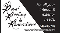 Royal Roofing & Renovations - your roofing specialists!