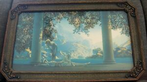 "VINTAGE PARRISH ""DAYBREAK"" PRINT IN ART DECO FRAME"