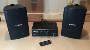 PYLE Stereo Amplifier with YAMAHA Speakers