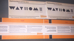 WAYHOME Music Festival Hard Copy Tickets (GA 3 Day Passes)