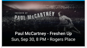 3 Paul McCartney tickets - Section 124