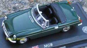 MGB Die cast metal model - British Racing Green by DelPrado in 1:43 scale