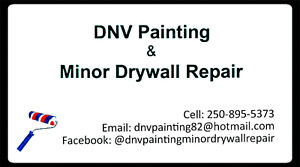 DNV painting and Minor Drywall repair