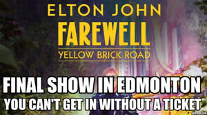 LAST CALL ✯ Elton John Rogers Place, SAT Sep 28 8PM ✯✯