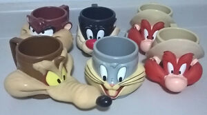Vintage Looney Tunes Collectible  Mugs