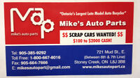 MIKE'S AUTO PARTS will pay Cash for scrap cars - $500 - $2000