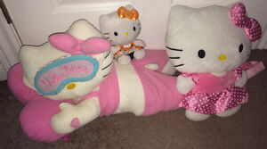 "Hello Kitty Plush Lot 19"" Laying Down 12 "" Napsack & 5.5"" Ty"