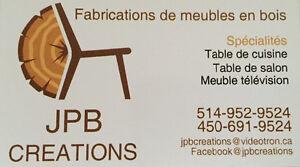 Table basse pour la terrasse construite en bois de palettes West Island Greater Montréal image 4