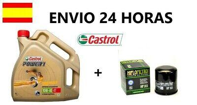 Aceite moto castrol 10w40 power 1 4l y filtro yamaha fz6 fazer...