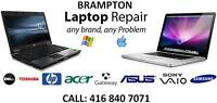 LAPTOP REPAIR - WE FIX ANY ISSUE ANY MODEL - BRAMPTON STORE