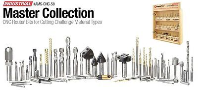 Amana Tool 58-piece Master 3d Sign Cnc Router Bit Collection