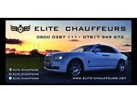 Elite Chauffeurs- Rolls Royce Phantom & Ghost car hire: Weddings, Proms, Corporate Events etc.