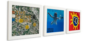 Display your vinyl: Art Vinyl Play & Display Record Frame Triplepack (White)