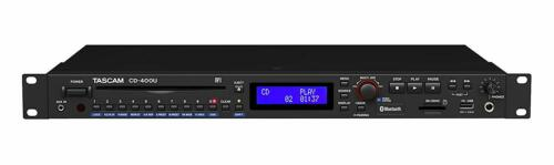 Tascam CD-400U  Rack-mount CD / Media Player with Bluetooth Receiver and AM/FM