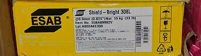 Esab Shield-bright 308l Stainless Flux Core Mig Welding Wire 0.035 33lb Spool