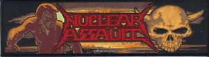 NUCLEAR ASSAULT-GAME OVER/SURVIVE-STRIP WOVEN PATCH-CROSSOVER-THRASH METAL