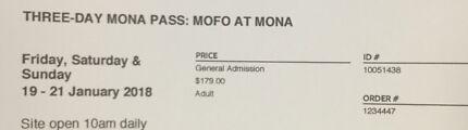 MONA Foma 2018 3-day-pass