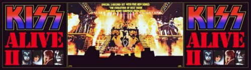 KISS Band 24 x 86 Alive II Full Stage Custom Banner Poster - Rock Music Love Gun