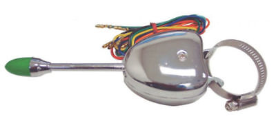Universal Turn Signal Switch - Chrome Steel Housing, Vintage, Car, Truck Chrome Turn Signal Switch