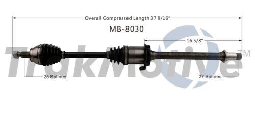 CV Axle Shaft Front Left SurTrack MB-8037 fits 06-11 Mercedes B200