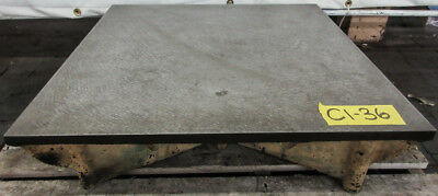 24 X 24 Cast Iron Surface Fixture Layout Plate For Metalworking
