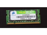 Corsair 1GB DDR2 SODIMM PC2 4200 (Laptop Memory)