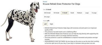 Kruuse XS Dog left knee protector brand new