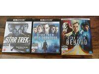 Star Trek trilogy UHD blu ray