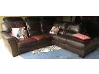 Bargain! Can Deliver Today- Leather Corner L-shape Sofa