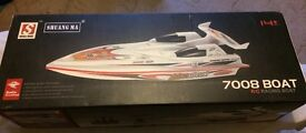 Large remote control R/C racing boat