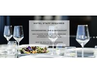 Hotel staff required for County Hotel, bar and restaurant. Housekeeping, bar, restaurant