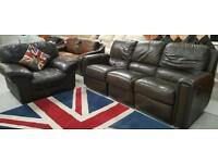 Leather 3 seater and chair ( chair not matching but same colour) can deliver locall