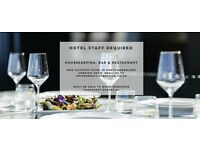 Hotel Staff wanted for Country hotel, bar and restaurant. Housekeeping, bar, restaurant staff